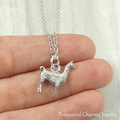 Silver Llama Charm Necklace - Alpaca Llama Pendant Jewelry - Llama Jewelry
