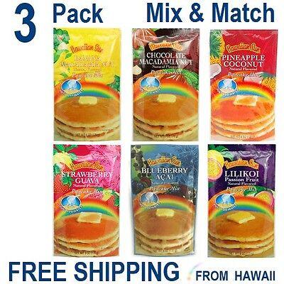 Hawaiian Sun PANCAKE MIX - 3 Pack - 6oz - YOU CHOOSE  3 Flavors Mix & Match