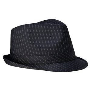 Men's Pinstripe Fedora - Black