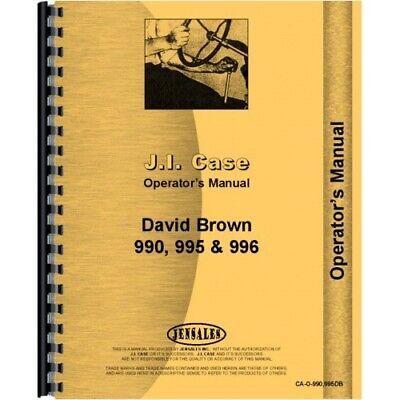 Case David Brown 990 995 996 Diesel Tractor Operators Owners Manual Early Sn