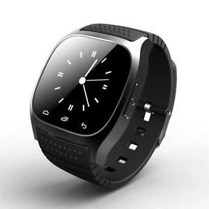 Bluetooth M26 Smart LED Watch Wrist Phone for Android IOS Black