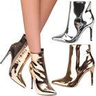Stiletto Casual Boots Metallic for Women