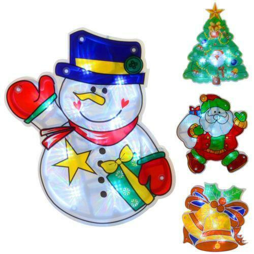 christmas window lights net curtain lights ebay - Battery Operated Christmas Window Decorations