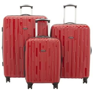 Samsonite Xion 3-Pc  Hard Side Luggage Set – Red - NEW IN BOX