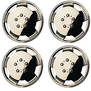 4 fiat ducato van motorhome 15 wheel trims chrome deep dish hub caps new ebay. Black Bedroom Furniture Sets. Home Design Ideas