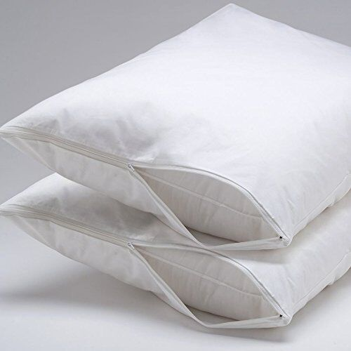 Hypoallergenic Bed Bug & Dust Mite Pillow Protector Zipper E