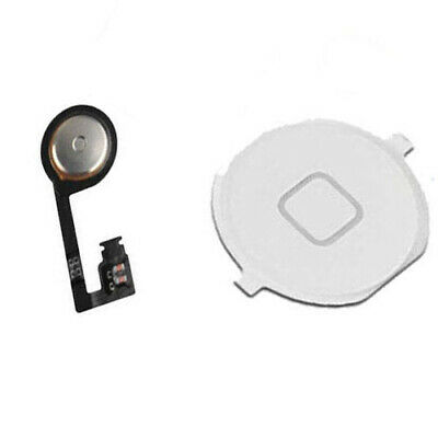 NEW Menu Home Button Key Cap External + Internal Flex Cable For iPhone 4S White