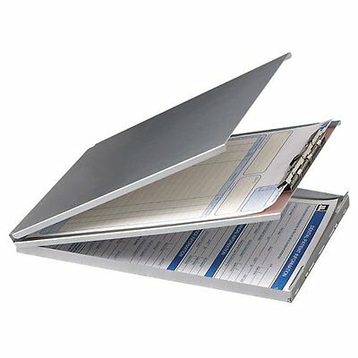 Oic Aluminum Storage Clipboard - 30 Compartment - Top Opening - 8.50 Oic83206