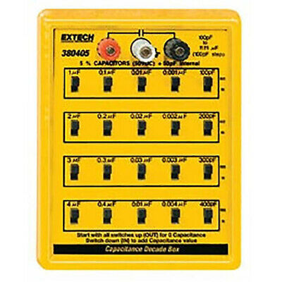 Extech 380405 Capacitance Substitutiondecade Box Rated To 50vdc