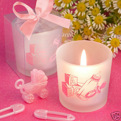 50 baby Girl themed candle favors baby Shower Favors (Baby Girl Shower Themes)