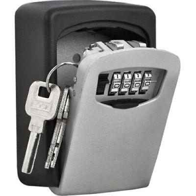 Safe Security 4 Digit Wall Mount Holder Password Hook Storage Key Lock Box Case
