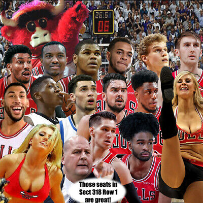 (2) LA Clippers @ BULLS; Sat 12/14; United Center; Row1; 15 seats from center