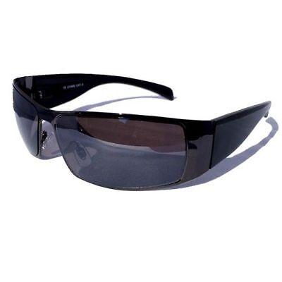 Top 3 für 2 HERREN SONNENBRILLE SCHWARZ SPORT BIKER RACING Party Sonnen Brille