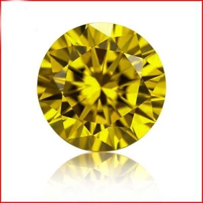 5.00Ct. Natural Untreated Round Cut Cambodian Loose Yellow Zircon
