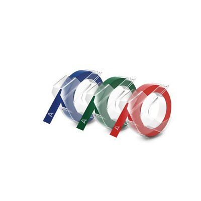 Dymo Embossing Tape Red Green And Blue 38-inch