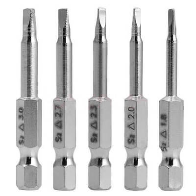 Small 5 Pcs Magnetic Triangle Head Screwdriver S2 Steel 1/4 Hex Shank 50mm US