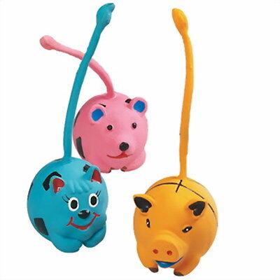 Hundespielzeug Latex Ball mit Schwanz Spielzeug Tier Hund Quietsche 7 x 16 cm
