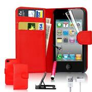 Flip Wallet Leather Case iPhone 4