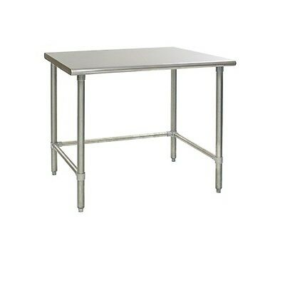 New Commercial 24 X 24 Stainless Steel Work Table W Galvanized Cross Bar 18ga