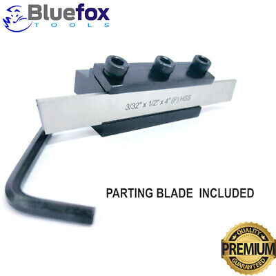 Lathe Parting Cut Off Tool Holder Clamp Type 10mm Shank With Hss Blade 12