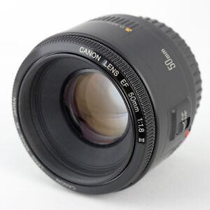 Lentille Canon EF 50mm F1.8 II avec filtre protecteur