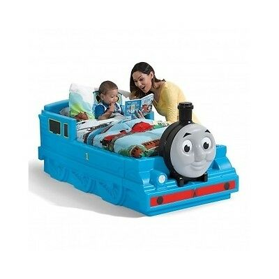 Toddler Train Bed Thomas The Tank Engine Crib Storage Kids Bedroom Sodor Island