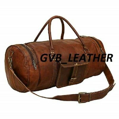 Bag Leather Duffle Travel Genuine Luggage Overnight Vintage Weekend best gift