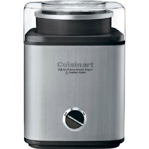 Cuisinart Pure Indulgence 2 quart Ice Cream & Frozen Yogurt Sorbet Maker - NEW