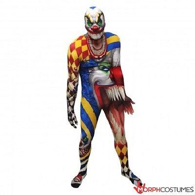 Morph-Anzug Gruseliger Clown Monster Erwachsene Anzug Halloween Luxus - Morph Anzug Kostüm