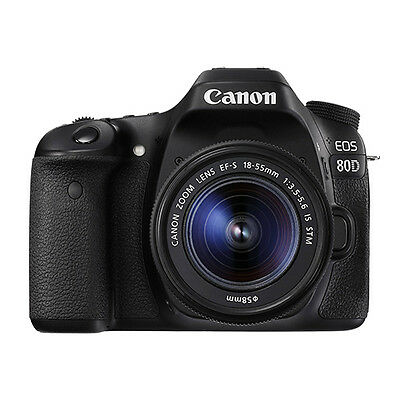 $989.95 - Canon EOS 80D Digital SLR Camera with 18-55mm EF-S IS STM Lens