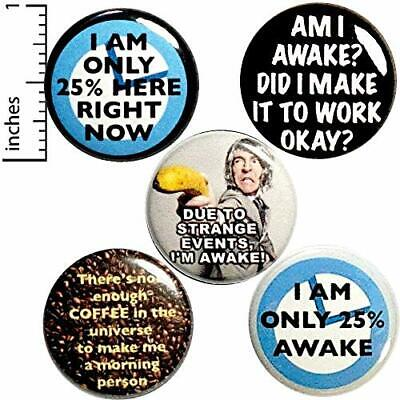 Funny Morning Button 5 Pack Backpack Pins Not A Morning Person Gift Set 1