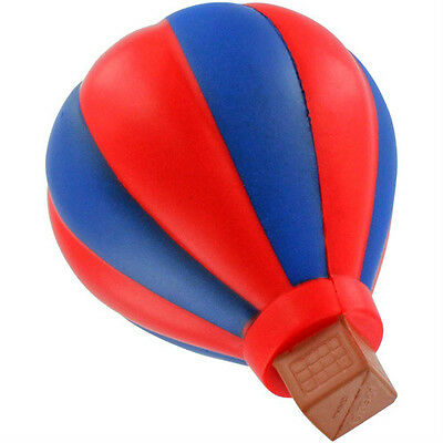 HOT AIR BALLOON STRESS BALL BLUE RED AIR-SHIP NOVELTY SQUEEZ TOY NON - Hot Air Balloon Toy