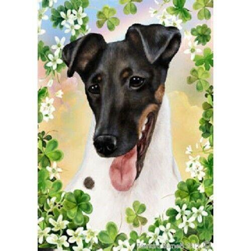 Clover Garden Flag - Tri Smooth Fox Terrier 312121