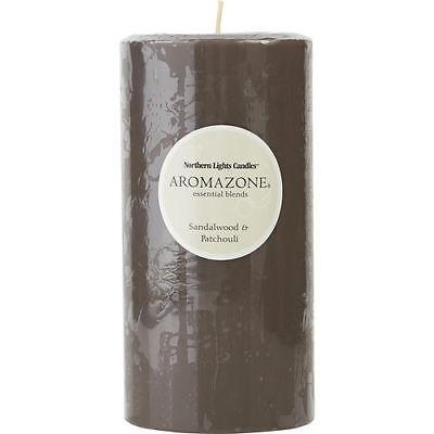 Sandalwood & Patchouli One 3X6 Inch Pillar Candle.  Burns Approx. 100 (3x6 Inch Pillar Candle)