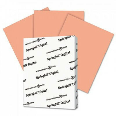 Digital Index Color Card Stock 90 Lb 8 12 X 11 Salmon 250 Sheetspack