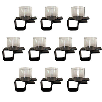 10 Plastic Side Clip On Drink Cup Holders for Home Game Poker Table New