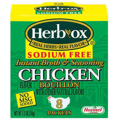 Herb-Ox Instant Broth & Seasoning Sodium Free Chicken Bouillon Packets