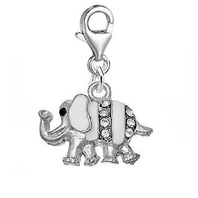 Clip on Elephant Charm Pendant for Chains or Any Other Item on Which You Can Cli
