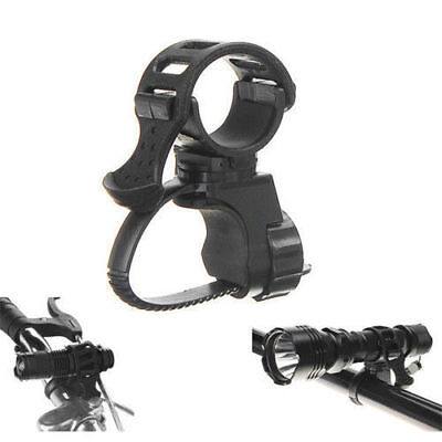 Bicycle Bike Torch Mount Head Front Bracket Flashlight Holder Rubber Band_nV