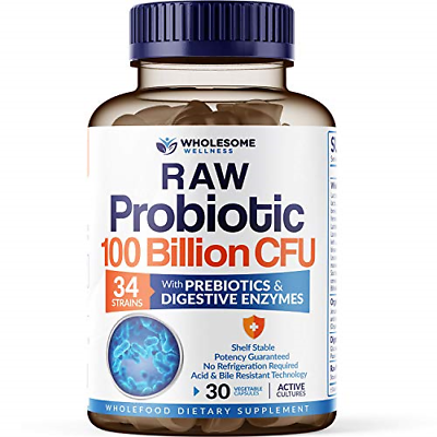 Organic Probiotics 100 Billion CFU - Dr. Approved Probiotics for Women, for Men