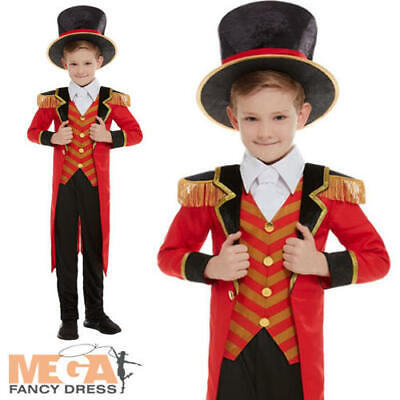 Deluxe Ringmaster Boys Fancy Dress Great Showman Circus Lion Tamer Kids Costume ](Circus Ringmaster Costume Kids)