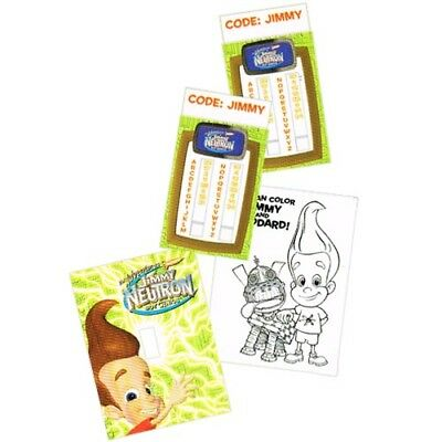 JIMMY NEUTRON GREETING CARD STUFFER ~ Birthday Party Supplies Stationery Favors - Jimmy Neutron Party