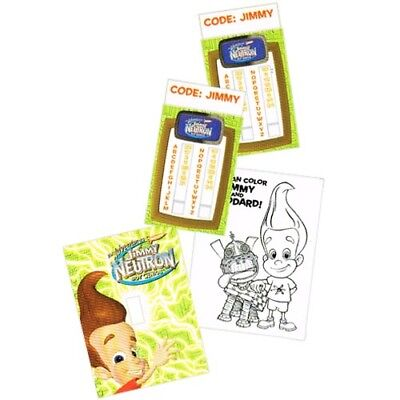 JIMMY NEUTRON GREETING CARD STUFFER ~ Birthday Party Supplies Stationery - Jimmy Neutron Party