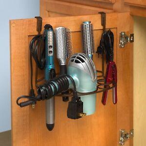 Hair Dryer Holder Curling Iron Storage Organizer Stand Tool Rack Hanger Brz
