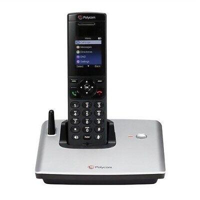 New Polycom Vvx D60 Base Station With Wireless Handset 2200-17821-001 4 Line Poe