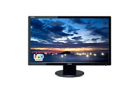 """ASUS VE247H Monitor, 24"""" FHD (1920x1080), 2ms, HDMI, DVI-D, D-Sub, Speakers"""