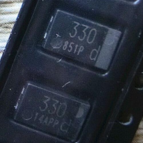 10pcs 330uf 6.3v D Type 7343 Thin Section Smd Tantalum Capacitor