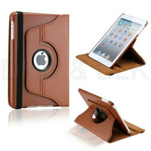 BROWN 360 ROTATING PU LEATHER CASE COVER WITH STAND FOR IPAD AIR Regina Regina Area image 9