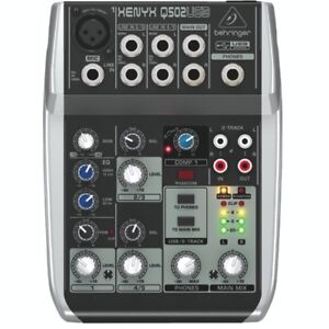 Behringer 502USB Xenyx Premium 5-Input 2-Bus Mixer-NEW IN BOX
