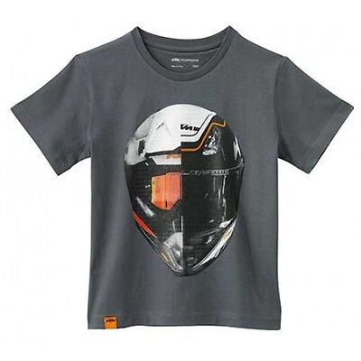 NEW KTM KIDS FACE OFF TEE GRAY YOUTH LOGO T-SHIRT NOW $24.99 ALL SIZES FREE SHIP - Face Off Kids T-shirt